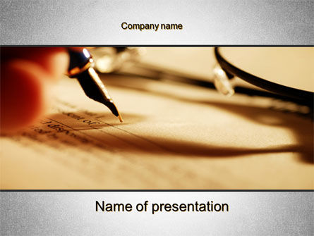 Pen Signing PowerPoint Template