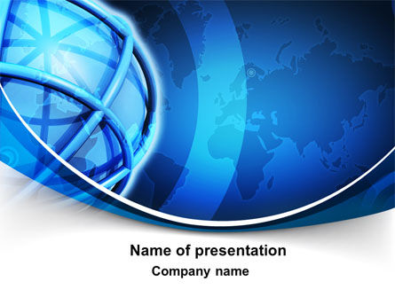 World Presentation PowerPoint Template, 10281, Global — PoweredTemplate.com