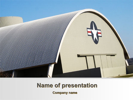 Military: Modello PowerPoint - Hangar #10282