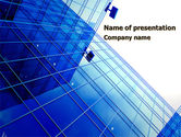 Construction: Glass Architecture PowerPoint Template #10286
