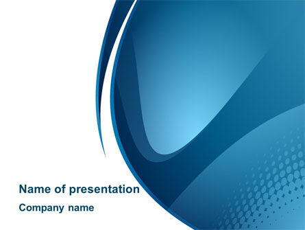 Curved Blue PowerPoint Template
