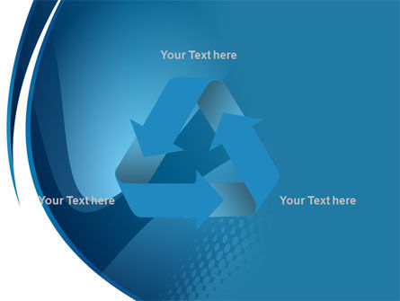 Curved Blue PowerPoint Template Slide 10