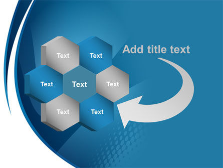 Curved Blue PowerPoint Template Slide 11