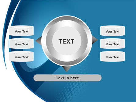 Curved Blue PowerPoint Template Slide 12