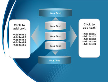 Curved Blue PowerPoint Template Slide 13