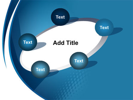 Curved Blue PowerPoint Template Slide 14