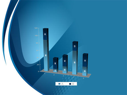Curved Blue PowerPoint Template Slide 17