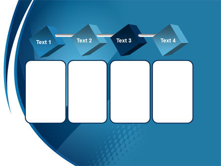 Curved Blue PowerPoint Template Slide 18