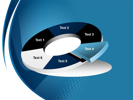 Curved Blue PowerPoint Template Slide 19