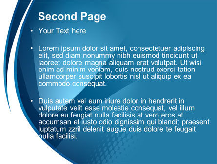 Curved Blue PowerPoint Template Slide 2