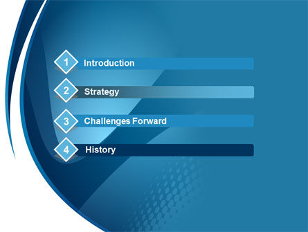 Curved Blue PowerPoint Template Slide 3