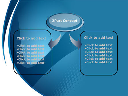Curved Blue PowerPoint Template Slide 4