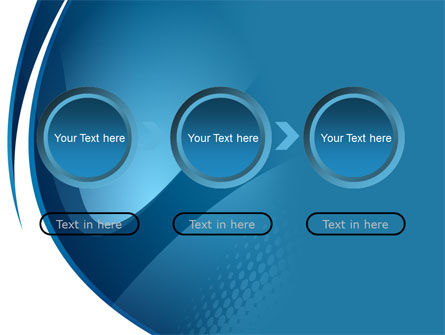 Curved Blue PowerPoint Template Slide 5