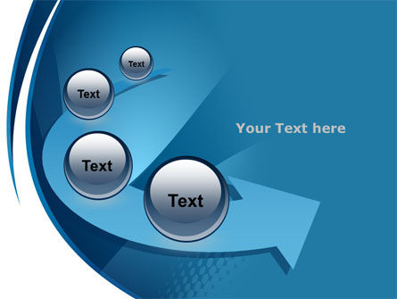 Curved Blue PowerPoint Template Slide 6