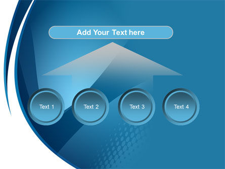 Curved Blue PowerPoint Template Slide 8