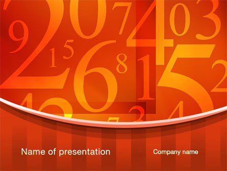 Education & Training: Math Numbers PowerPoint Template #10290