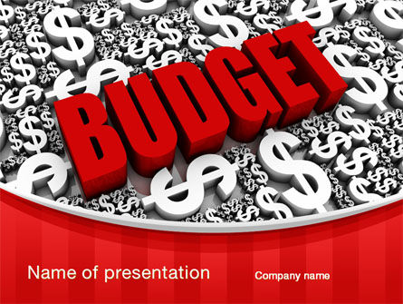 government budget powerpoint template backgrounds 10293