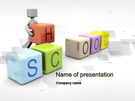 School Blocks PowerPoint Template, 10295, Education & Training — PoweredTemplate.com