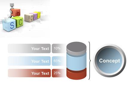School Blocks PowerPoint Template Slide 11
