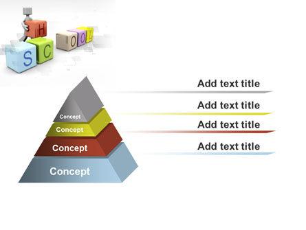 School Blocks PowerPoint Template Slide 12