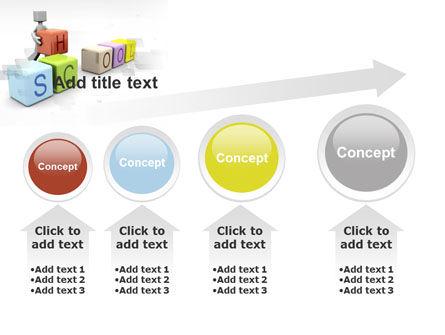 School Blocks PowerPoint Template Slide 13