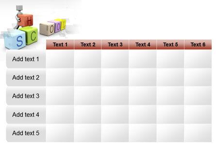 School Blocks PowerPoint Template Slide 15