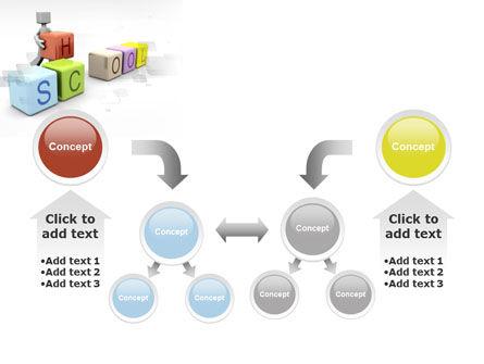 School Blocks PowerPoint Template Slide 19