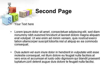 School Blocks PowerPoint Template, Slide 2, 10295, Education & Training — PoweredTemplate.com