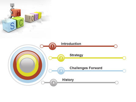 School Blocks PowerPoint Template, Slide 3, 10295, Education & Training — PoweredTemplate.com