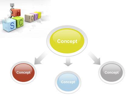 School Blocks PowerPoint Template, Slide 4, 10295, Education & Training — PoweredTemplate.com