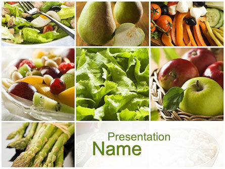 Vegetarian PowerPoint Template, 10298, Food & Beverage — PoweredTemplate.com