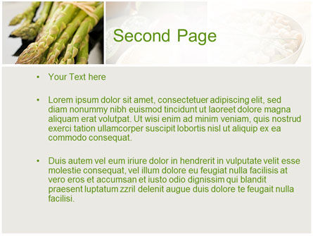 Vegetarian PowerPoint Template, Slide 2, 10298, Food & Beverage — PoweredTemplate.com