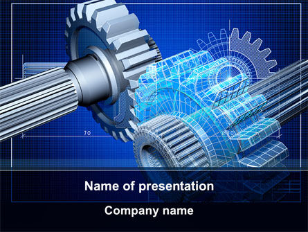 Utilities/Industrial: Prototype of Mechanism PowerPoint Template #10301