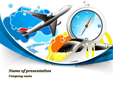 Travelling Mode PowerPoint Template, 10303, Cars and Transportation — PoweredTemplate.com
