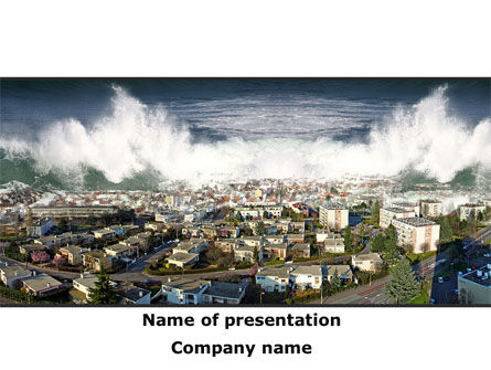 Nature & Environment: Tsunami PowerPoint Template #10304
