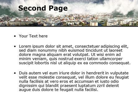 Tsunami PowerPoint Template, Slide 2, 10304, Nature & Environment — PoweredTemplate.com