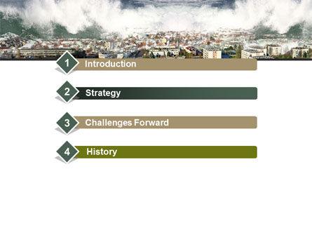 Tsunami PowerPoint Template, Slide 3, 10304, Nature & Environment — PoweredTemplate.com