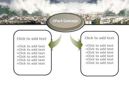 Tsunami PowerPoint Template, Slide 4, 10304, Nature & Environment — PoweredTemplate.com