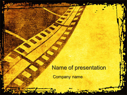 Art & Entertainment: Film Sepia PowerPoint Template #10305