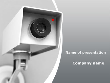 Surveillance PowerPoint Template, 10307, Careers/Industry — PoweredTemplate.com