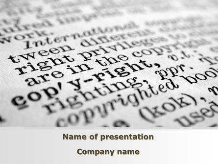 Copyright PowerPoint Template