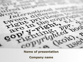 Legal: Copyright PowerPoint Template #10310