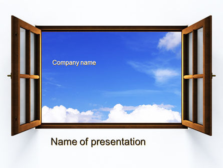Open Window PowerPoint Template, 10314, Business Concepts — PoweredTemplate.com