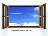 Business Concepts: Open Window PowerPoint Template #10314