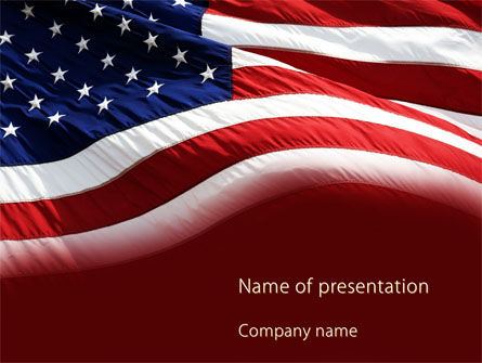 Flags/International: Old Glory PowerPoint Template #10315