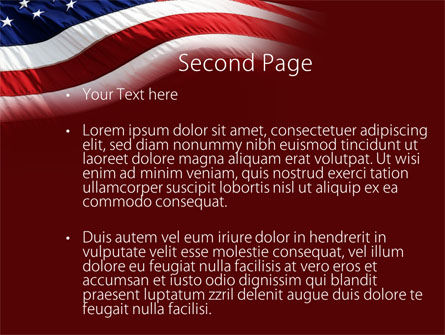 Old Glory PowerPoint Template, Slide 2, 10315, Flags/International — PoweredTemplate.com