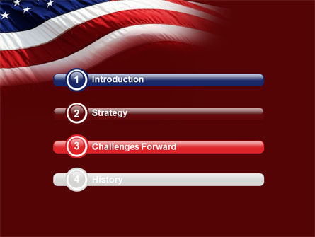 Old Glory PowerPoint Template, Slide 3, 10315, Flags/International — PoweredTemplate.com