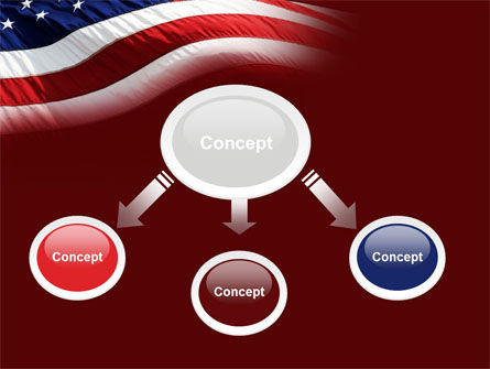Old Glory PowerPoint Template, Slide 4, 10315, Flags/International — PoweredTemplate.com