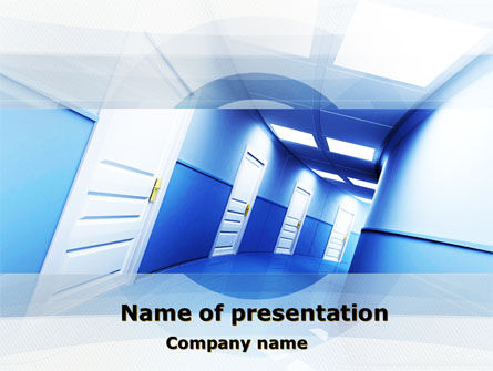 Construction: Tilted Corridor PowerPoint Template #10316