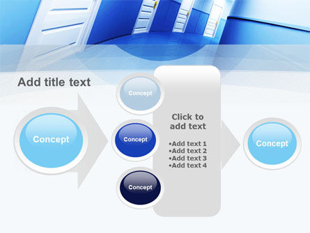 Tilted Corridor PowerPoint Template Slide 17